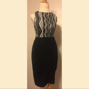 UO Sparkle & Fade Ribbed Midi Pencil Skirt